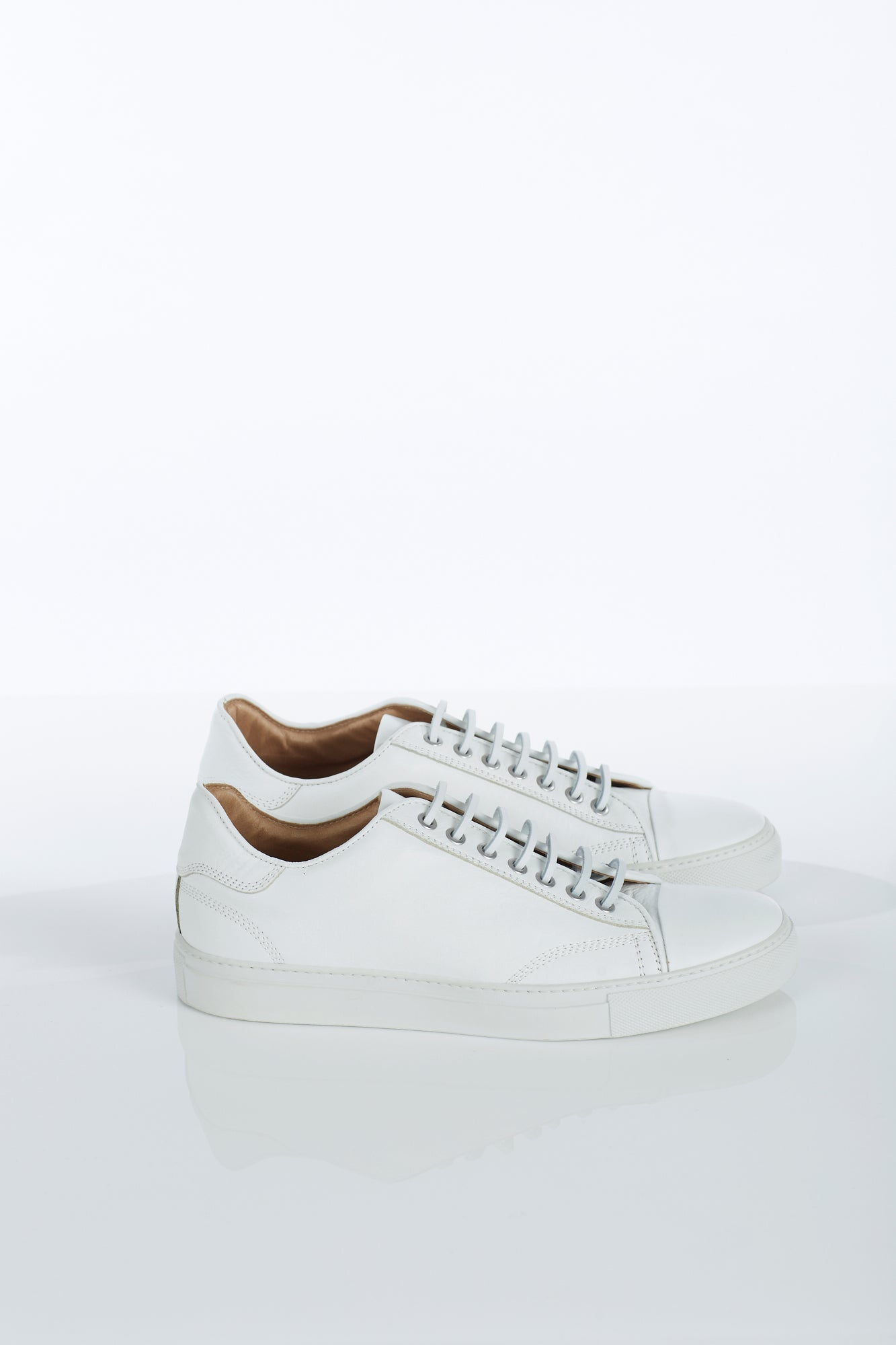 Wings + Horns Classic Low White Sneaker Side