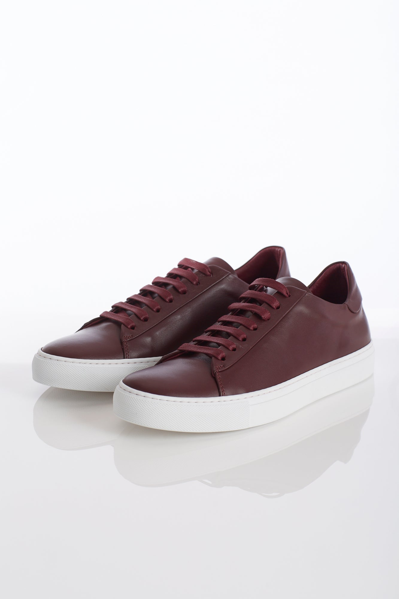 Wings+Horns Court Low Burgundy Sneakers