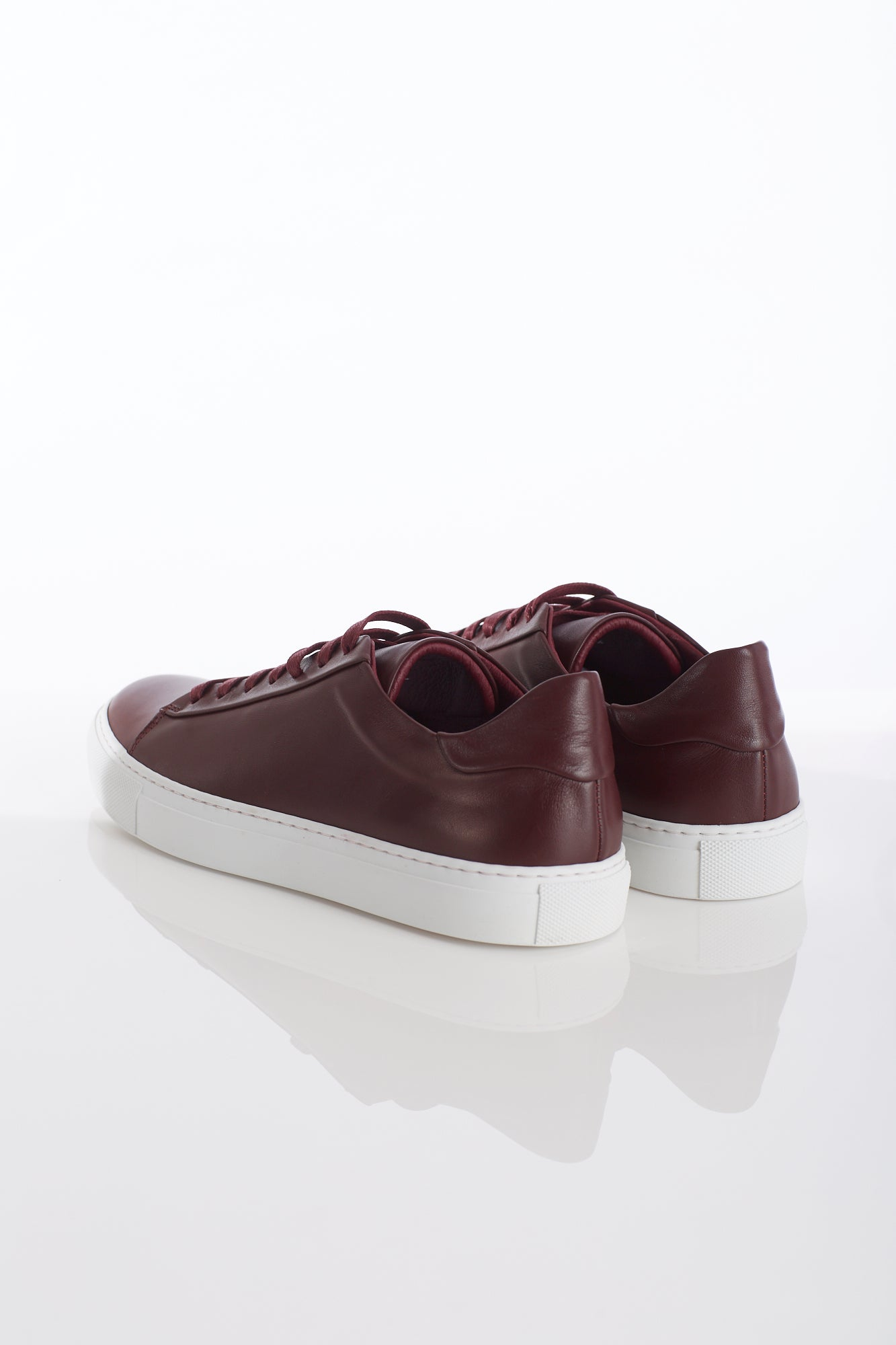 Wings+Horns Court Low Burgundy Sneakers Back