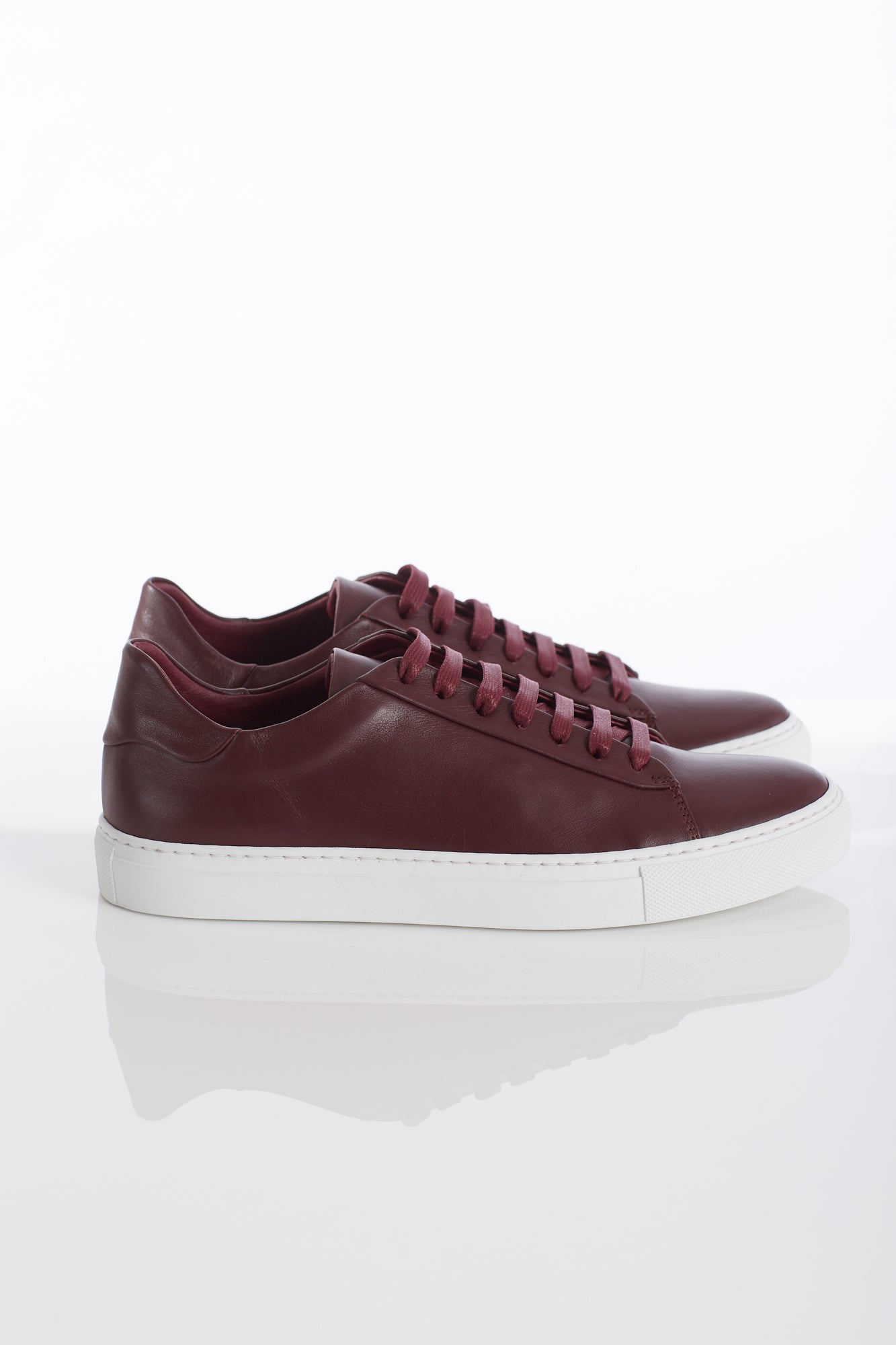 Wings+Horns Court Low Burgundy Sneakers Side