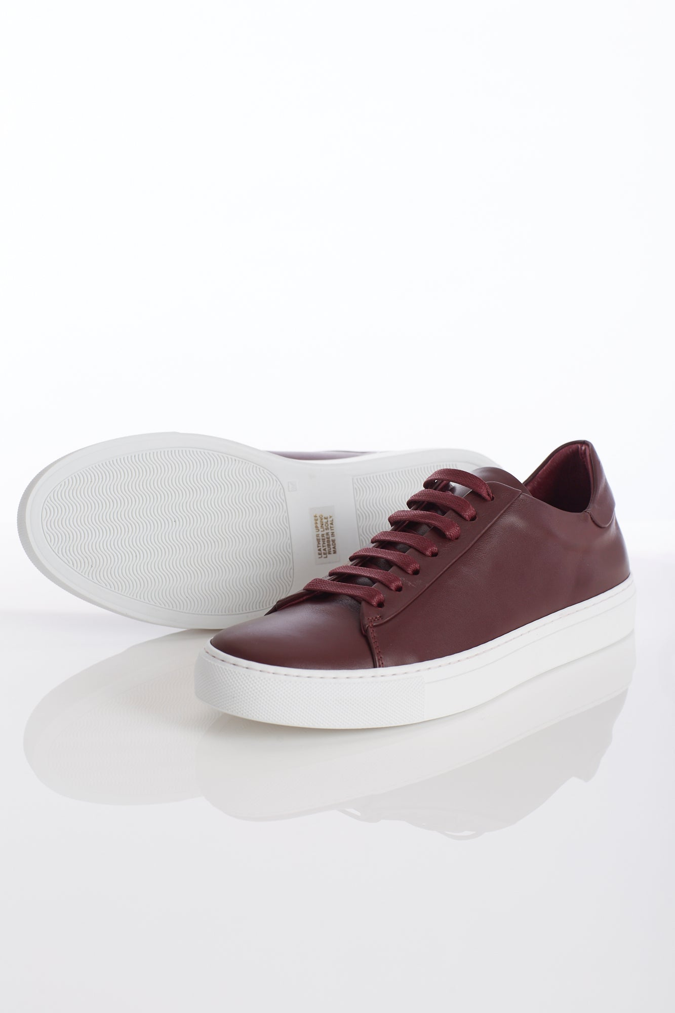 Wings+Horns Court Low Oxblood Sneakers