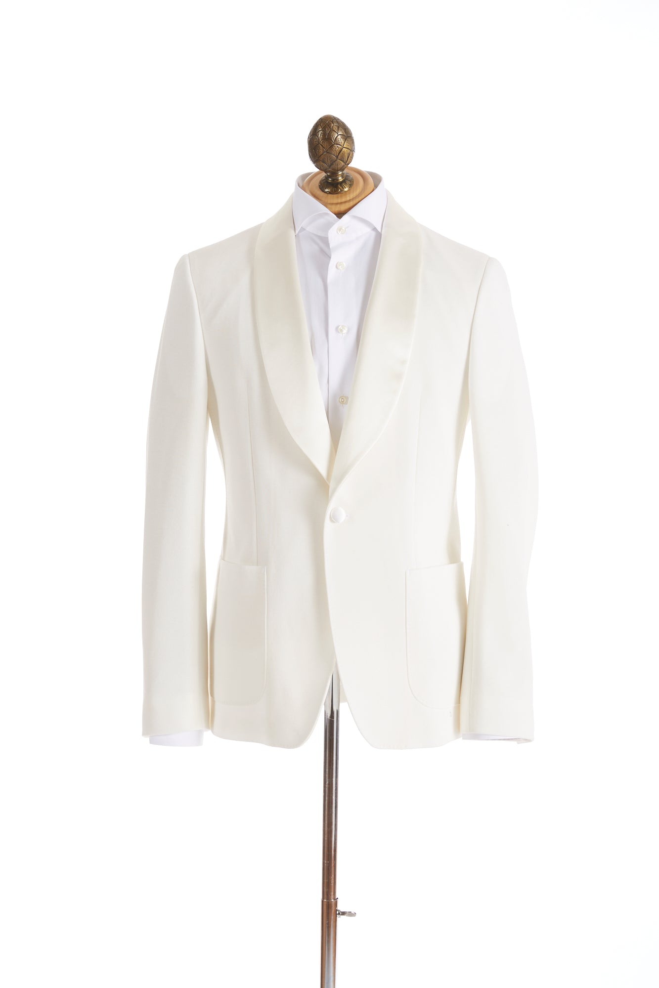 Z Zegna Cream Stretch Tuxedo Jacket