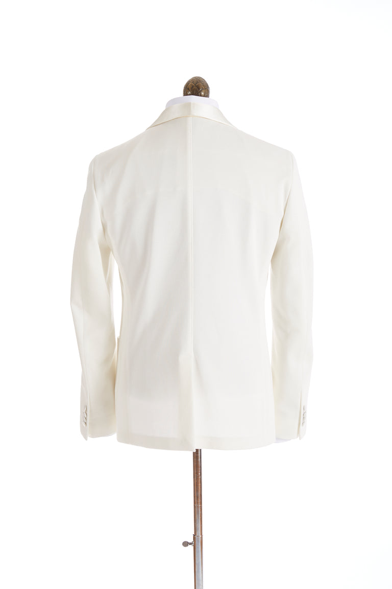 Z Zegna Cream Stretch Tuxedo Jacket Back