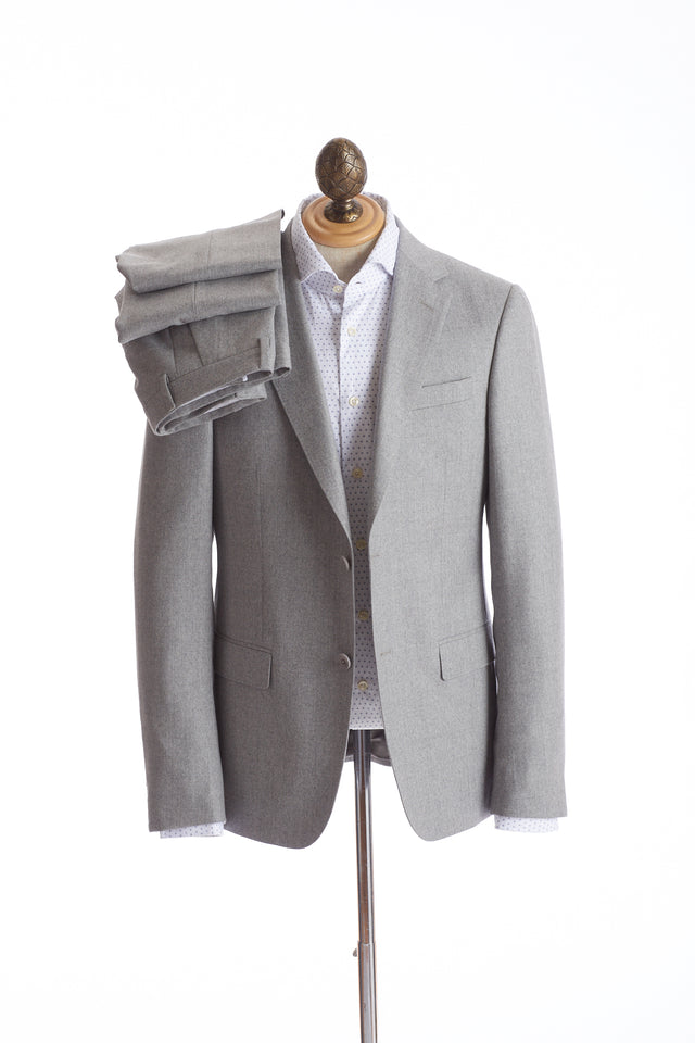 Z Zegna Light Grey Flannel Suit
