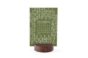2018 Letterpress Stump Calendar