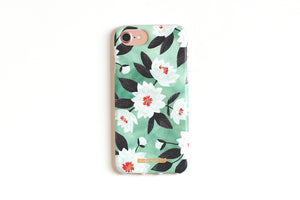 Mint Floral iPhone Case