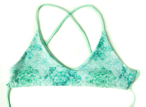Tidal Mandala + Mint Kai Reversible Cross Back Bikini Top