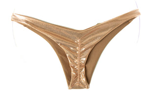 rose gold cheeky Brazilian bikini bottom