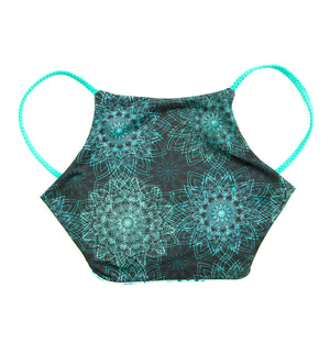 reversible High neck halter bikini top