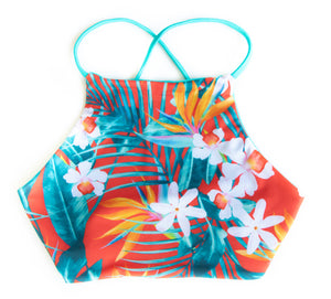 Mai Tai Sydney High Neck Halter Reversible  Bikini Top
