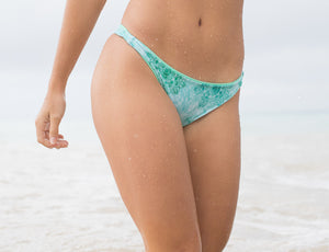 Tides Tie Dye + Tidal Mandala Venus Super Cheek Reversible Brazilian Thong Bikini Bottom