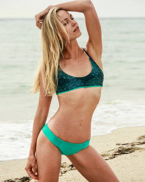 Lunar Mandala + Aqua Combination Kai Cross Back Bikini Top