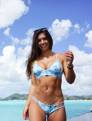 Tides Tie Dye + Mint Jewel Reversible Cheeky Bikini Bottom
