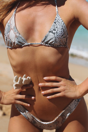 Desert Snake + Honey Eclipse REVERSIBLE Triangle Bikini Top