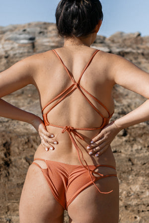Copper Sands Jewel Reversible Cheeky Bikini Bottom
