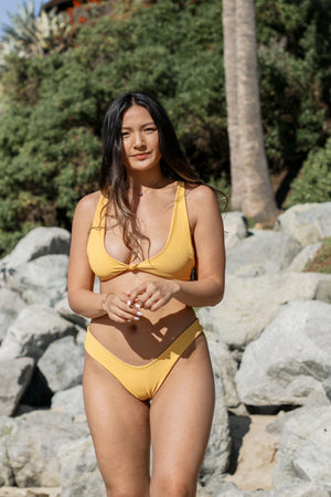yellow cheeky brazilian bikini bottom