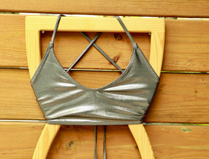 Cross Back Bikini Top- Made to Order