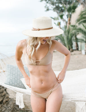 Beige Jewel Reversible  Bikini Bottom- Limited Time Offer