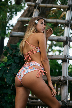 Mai Tai High Waisted Honey String Bikini Bottom