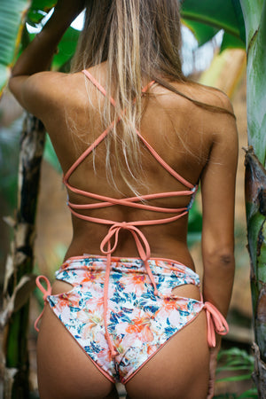 Hibiscus + Nectar High Waisted Honey String Bikini Bottom