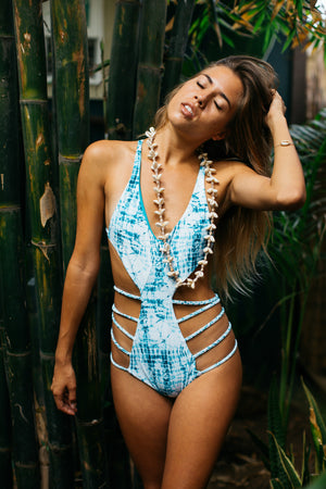 Tides Tie Dye + Aqua Eden One Piece Reversible Swimsuit