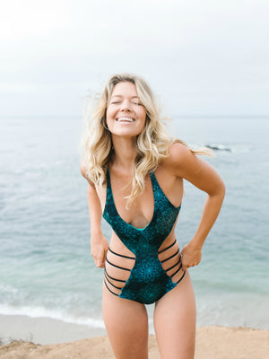 Lunar Mandala + Aqua Eden One Piece Reversible Swimsuit