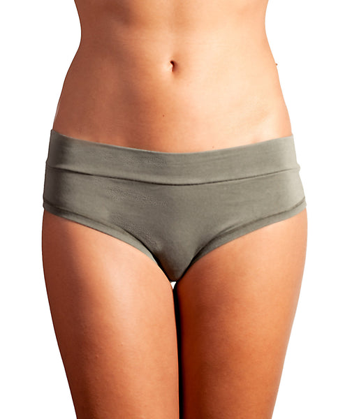 Bamboo High waist briefs - Plain WSVA01-KHA