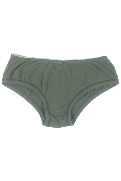 Bamboo Ribbon Shorts Briefs Coulotte - Bow Short Briefs Plain WSCOU15-KHA