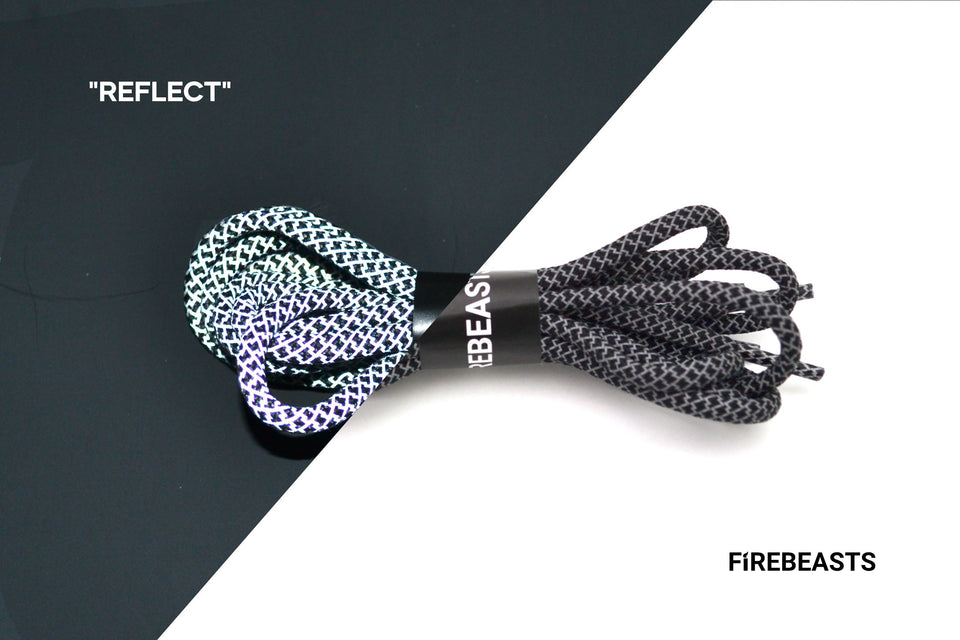 """REFLECT"" - 3M Reflective Rope Laces - FIREBEASTS"