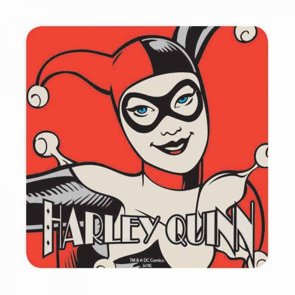 Batman Harley Quinn Single Coaster Drinks Mat Vintage Retro