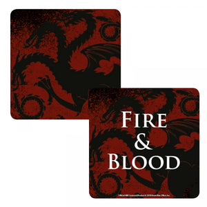 Game of Thrones Lenticular Coaster-Targaryen