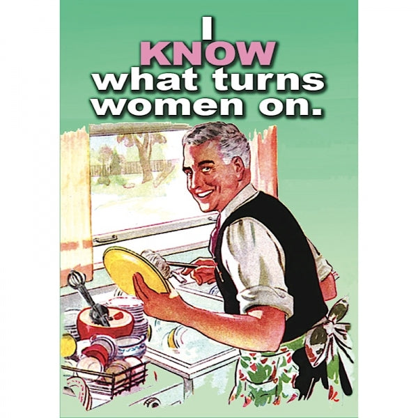 Retro Humour Metal Magnet-I Know What Turns