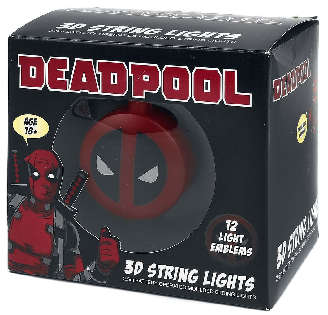 Deadpool Logo 3D String Lights