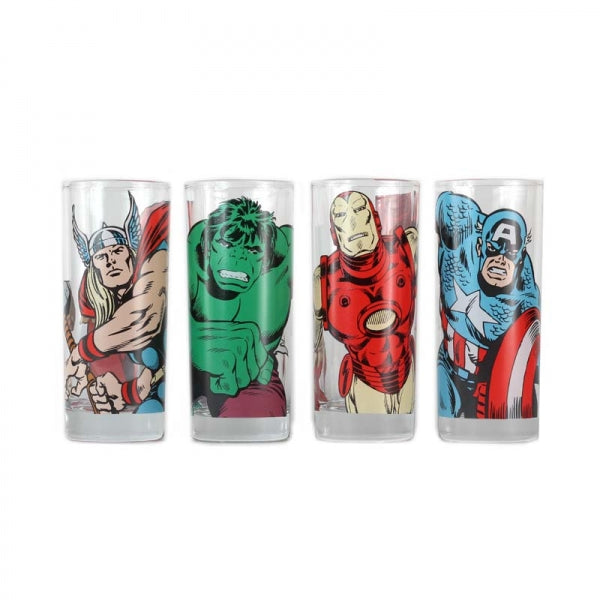 Marvel Glasses (Set of 4) -Characters