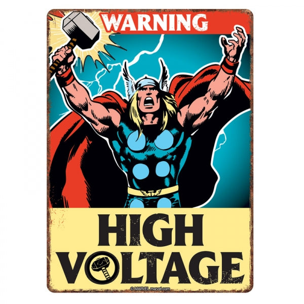 Marvel Thor Tin Sign - Krazy Gifts