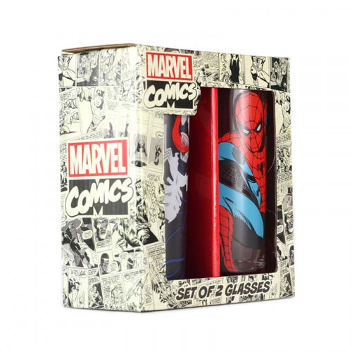 Marvel Glasses (Set of 2)- Spiderman & Venom