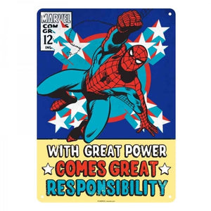 Marvel Spiderman Tin Sign - Krazy Gifts