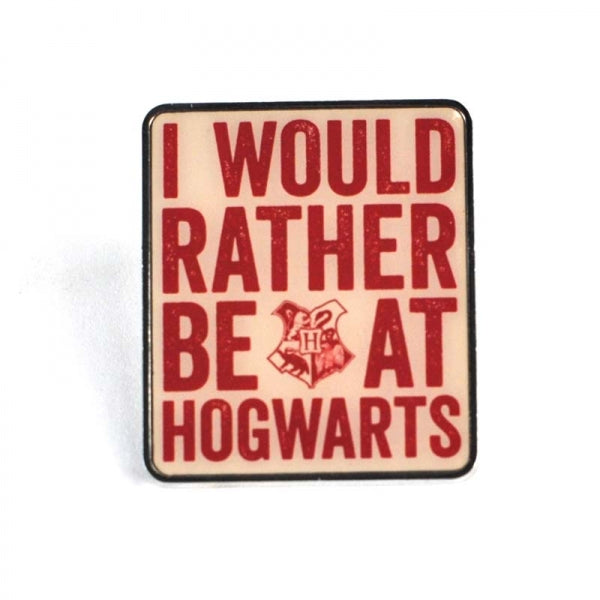 Harry Potter Enamel Badge -Hogwarts Slogan
