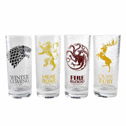 Game of Thrones Glasses (Set of 4) Sigils