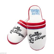 Suicide Squad Harley Quinn Daddy's Little Monster Adult Mule Slippers
