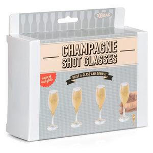 CHAMPAGNE SHOT GLASSES - Krazy Gifts