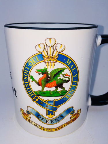 The Queens Regiment Travel/Coffee Mug