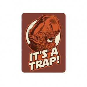 Star Wars Metal Magnet Its a Trap