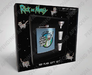 Rick and Morty Hip Flask Set Wrecked
