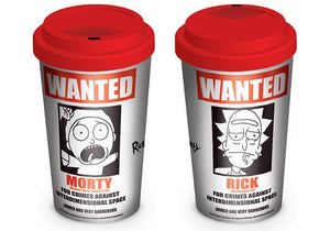 Rick and Morty Travel Mug Wanted