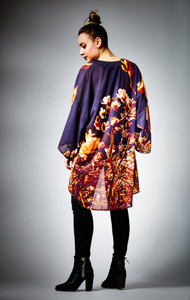 [Limited Edition] Evening Blossoms Kimono