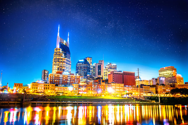 "POS ""Nashville Night II"" (20x30 Fine Art Print) Framed"
