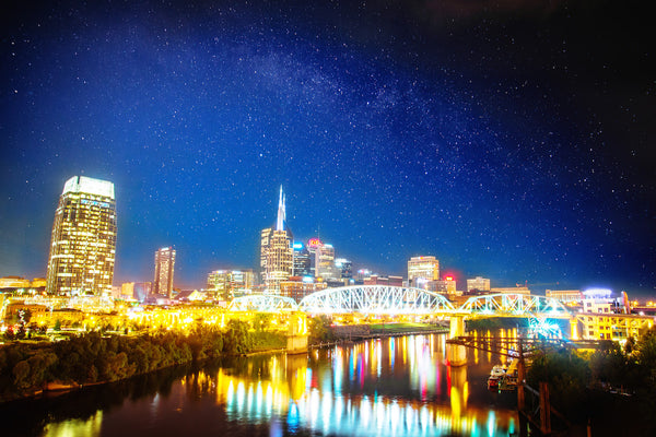 "Tennessee ""Nashville Night With Pedestrian Bridge"""