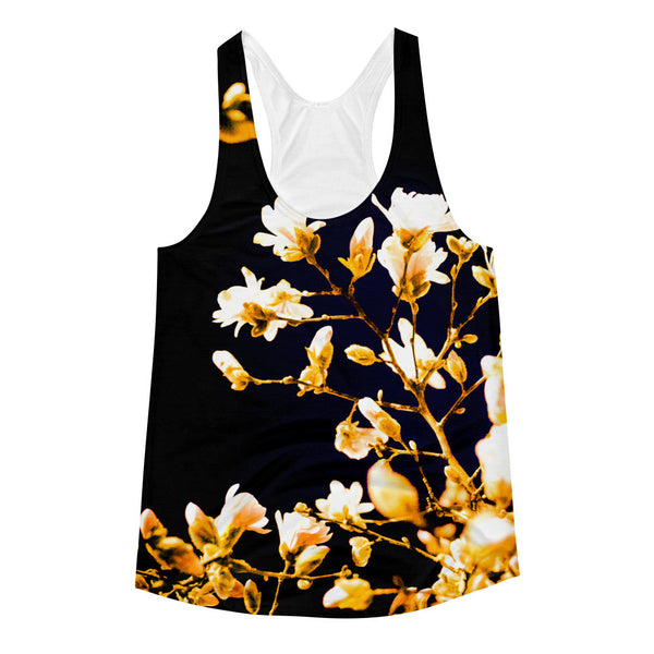 "NEW ""Evening Blossoms IV"" Racerback Tank (Women)"