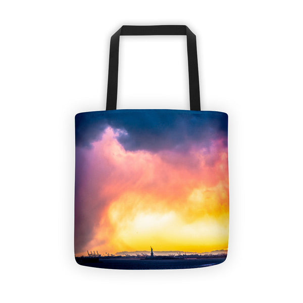 Sunset Statue of Liberty Tote